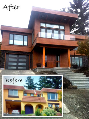 Nanaimo Home Renovation Before After